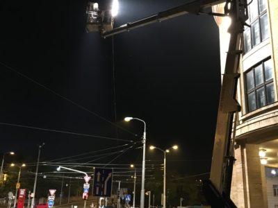 Plošina MP27 MX270 nakrúcanie osvetlovenie Bratislava